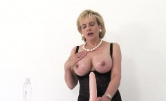 Unfaithful british milf gill ellis presents her enormous tit