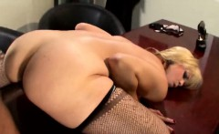 Black Judge Rocks Stunning Blonde MILF In His Office