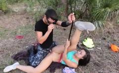 tight teen babe adrian maya fucked by horny guy outdoors