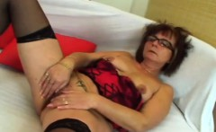 Sexy granny goes down and sucks younger cock