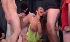 busty sexy susi in a real gangbang