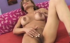 Blonde Granny Can't Get Her Hands Of His Big Cock