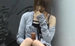 Japanese teen upskirted