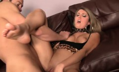 Leopardskin Hooker Nina Rae Frigs Her Horny Clit During Sex