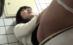 Busty asian masturbates