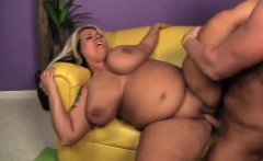Fat Blonde With Massive Swaying Tits Fucks For Cash