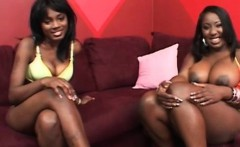 Chesty ebony lesbians love eating each others cunts