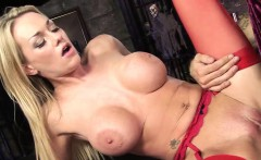 Horny blonde MILF with big boobs, Paige Ashley, gets down...
