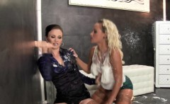 Kinky lesbian gets fisted