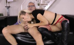 Stockings ho cum in mouth