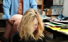 Young shoplifter fucked by the shop owner after being caught