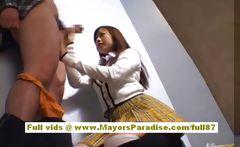 Miyu Hoshino naughty Chinese schoolgirl enjoys sucking cocks