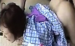 Kinky Asian housewife loves to suck hard meat and to get po