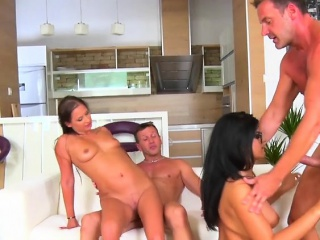 Hot Vixens Gets Fucked Hard And Creamed By Plumbers