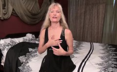 USAWives slim blonde granny Cindy solo play