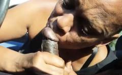 Granny Sucking Dick in Vehicle