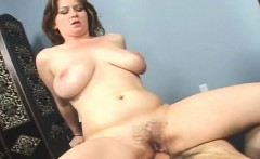 big breasted nympho violet rubs her peach before enjoying a long dick