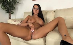 Busty Alexis Grace Sexy and Solo Masturbating
