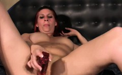 Sexy redhead pussy toying