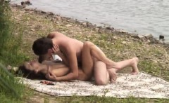 pair caught fucking from the water