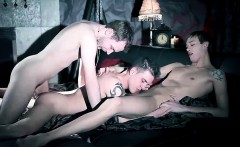 Vampires big cock and blood sucking fest threesome fuck