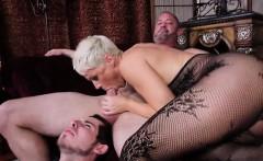 Hot pornstar cuckold and cum eating