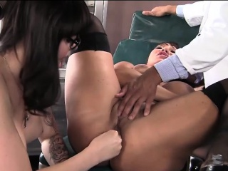 Ava Devine gets anal fisted by Danielle Foxx while she