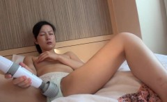 Asian toys hairy pussy