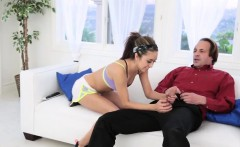dad fucks comrade's daughter massage the stretch and swap