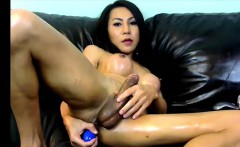 Huge tits ladyboy enjoys her model that is anal