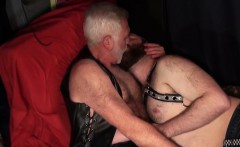 Chubby Leather Daddies Bare Fucking