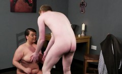 horny beauty gets cumshot on her face swallowing all the spe