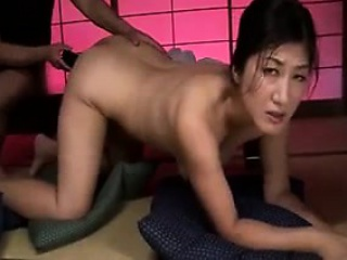 Insatiable Japanese wife with saggy boobs gets pleased with