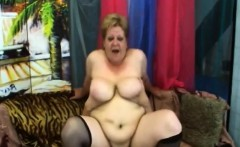 Fat Granny Venuse Takes Cock In Pussy On Couch