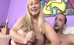 Busty MILF Samantha scolds young Joey for beating his meat.
