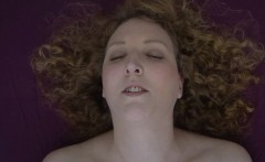 Curly Girl Massages Her Clit