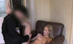 fake cop bangs blonde in friends house