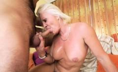 Kinky grandma sucks dick
