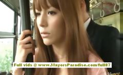Miho Maeshima Chinese girl gets a cum load on her glasses