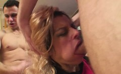 hot blonde babe gets penetrated by two studs