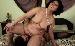 Mature lesbo rimmed by a pretty young maid