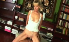 Blonde Granny Inci Gets Pussy Filled While Riding