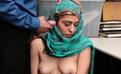 Shoplyfter- Hot Muslim Teen Caught and Harassed