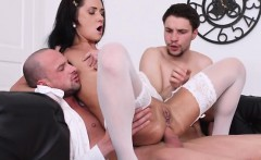 Teen Courtesan Angie Moon Enjoys Double Dicking