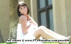 Simora fun naughty girl public flashing