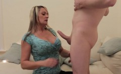 Busty CFNM britt cocksucks cheating husband