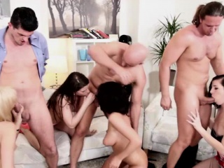 Mona Linet and Barbra fuck in orgy