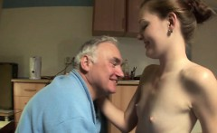 Slender doxy gets licked and rides an old dick wildly