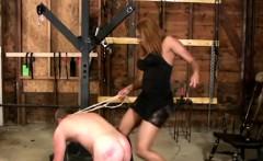 Ebony Tranny Dominates White Slave
