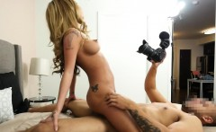 Real amateur doggystyled after bj at casting